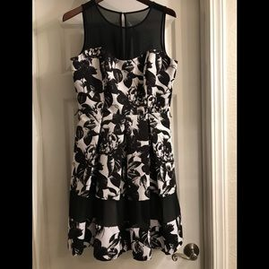 White House Black Market fit flare dress and shrug